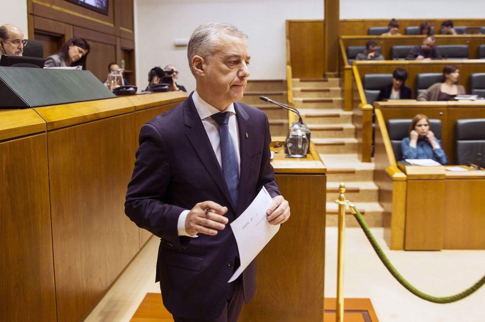 Foto: Urkullu, este viernes en el Parlamento Vasco. (EFE)