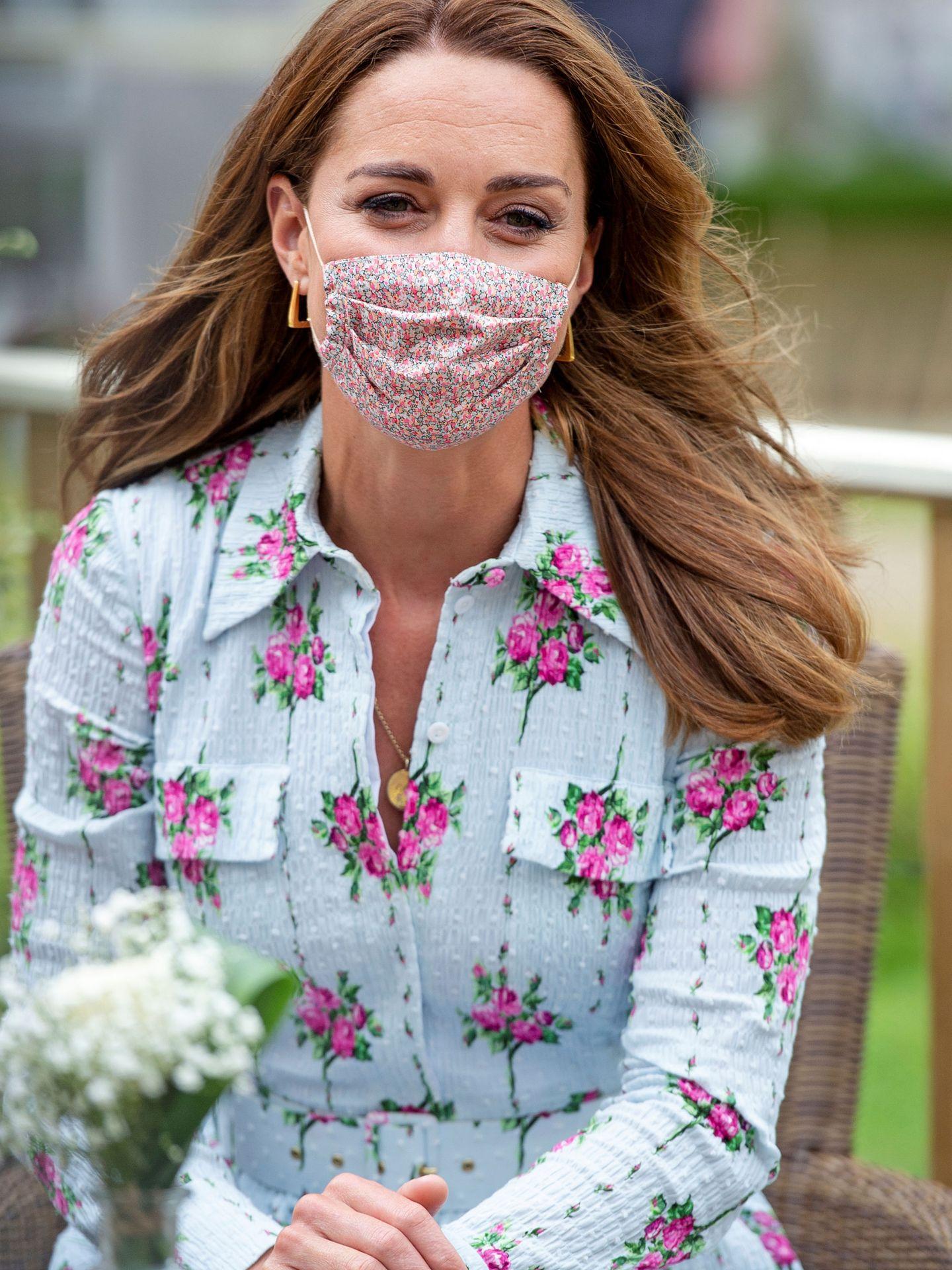 Kate con su mascarilla 'made in Spain'. (REUTERS)