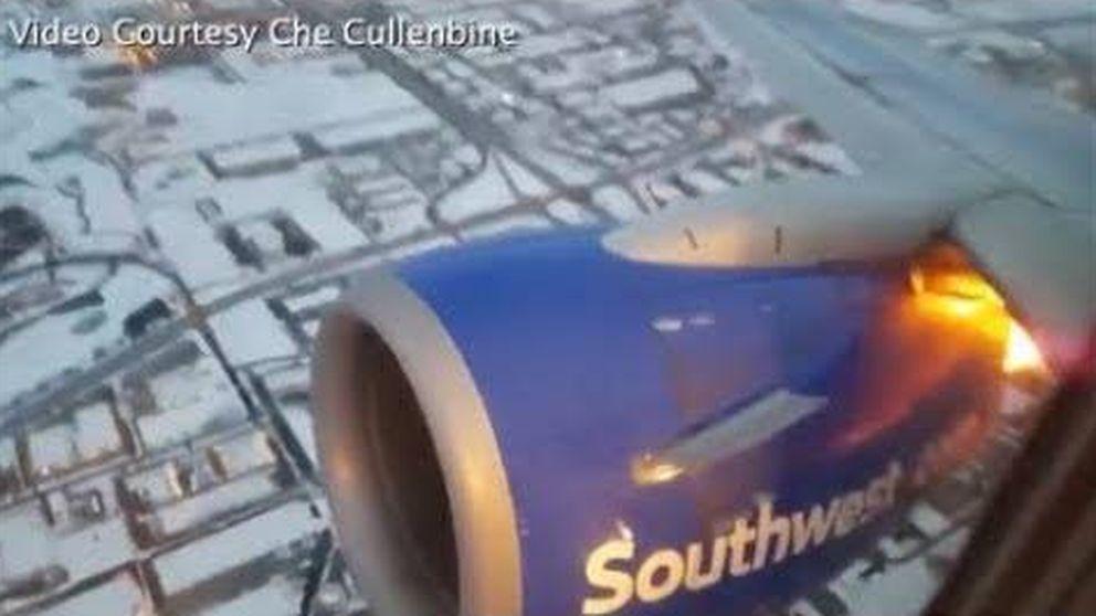 El motor de un Boeing 737 explota en pleno vuelo
