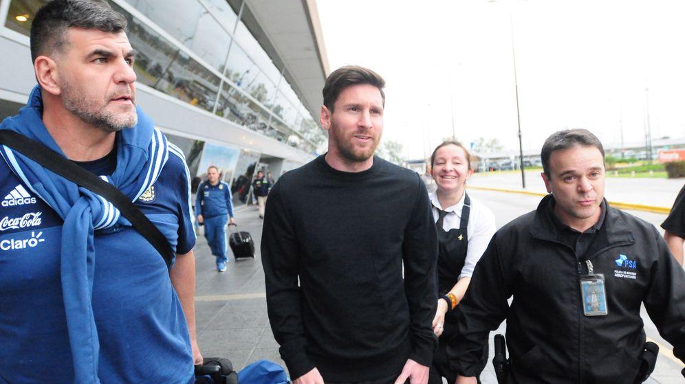 Foto: Messi ha paasdo los últimos días en Rosario (Jose Granata/EFE/TELAM)