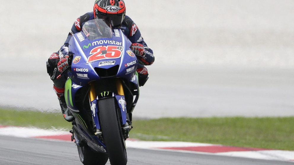 El agotamiento de Valentino Rossi frente al liderazgo en la pista de Viñales