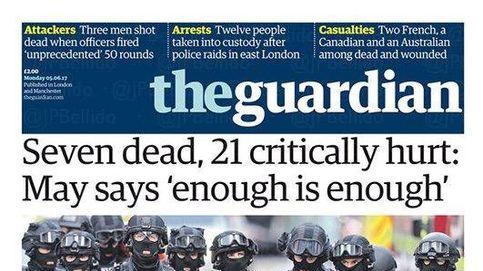 Así cubre la prensa internacional el ataque terrorista de Londres: Abatidos en ocho minutos