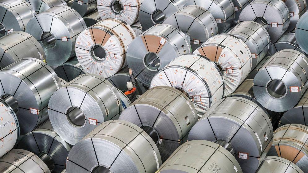 Foto: Bobinas de aluminio laminado. (EFE)