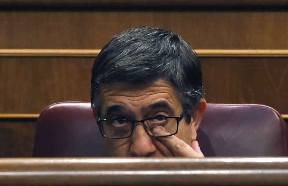 Foto: El ya expresidente del Congreso Patxi López, este 19 de julio, desde su escaño de diputado en la sesión constitutiva de la XII Legislatura. (EFE)