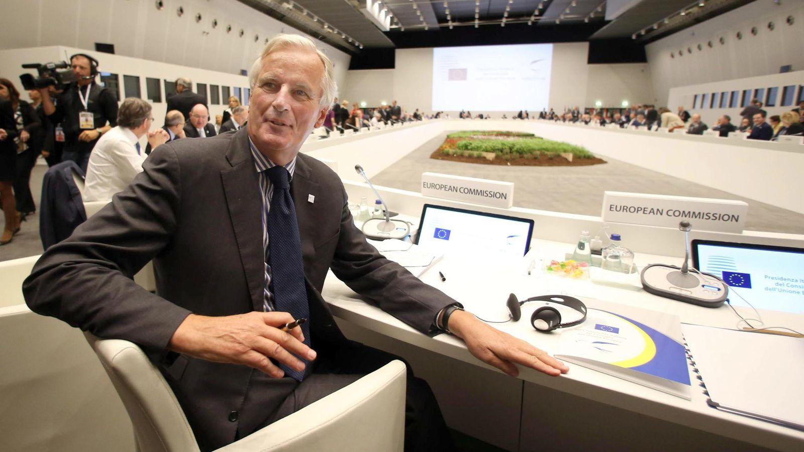 Foto: Michel Barnier, en su época como Comisario de la UE para Mercados y Servicios Interiores, en septiembre de 2014 (EFE)