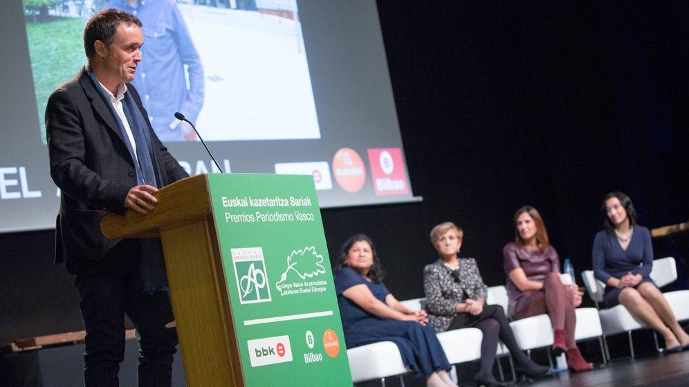 Foto: El periodista Mikel Ayestaran, en una imagen de archivo. (Foto: Asociación Vasca de Periodistas)