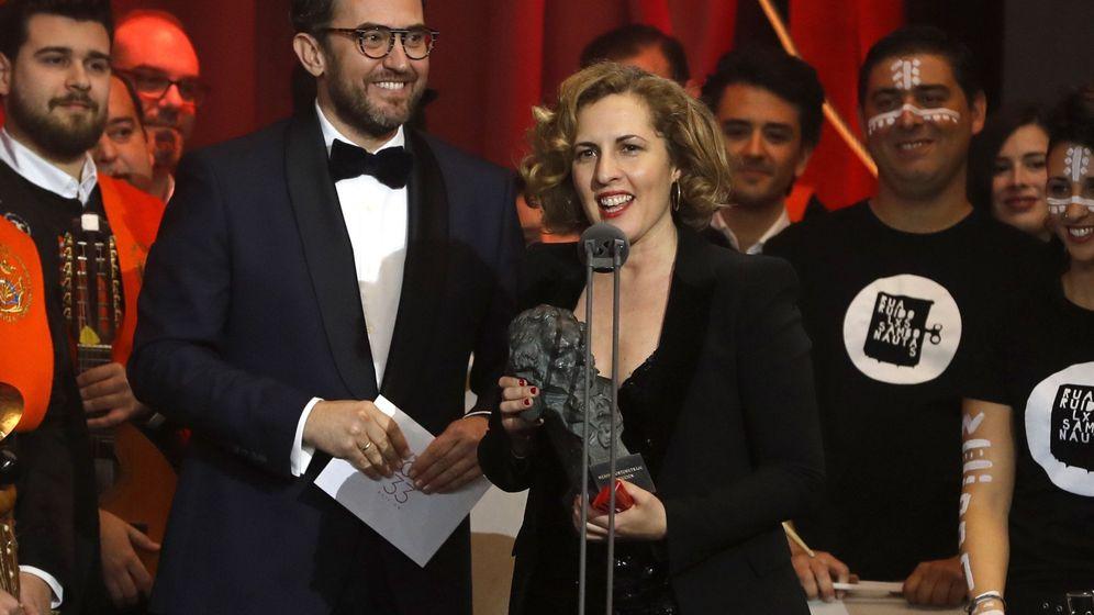 Foto: Huerta en el escenario de los Goya 2019.(EFE)
