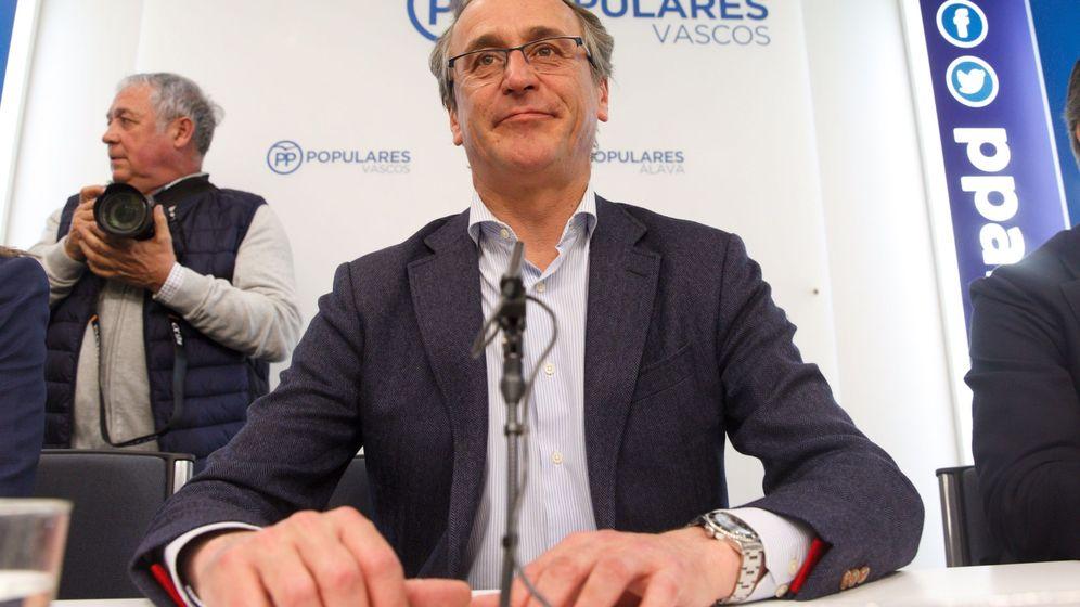 Foto: Alfonso Alonso, en la sede del PP vasco. (EFE)