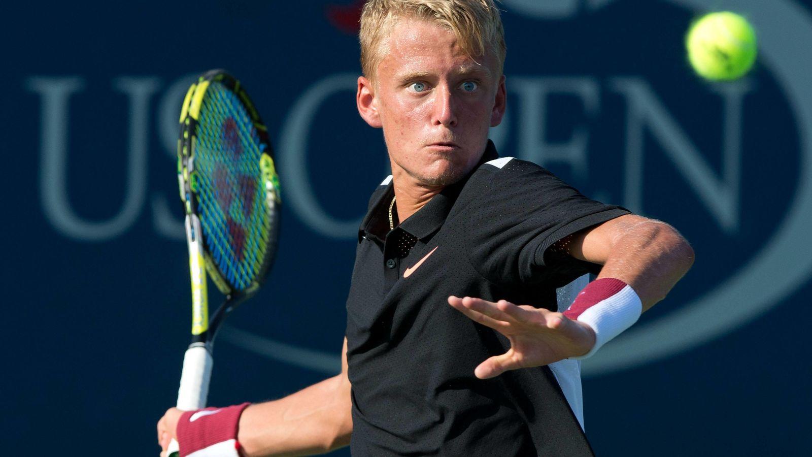 Foto: Nicola Kuhn, en acción durante un partido del US Open Junior (Imago)