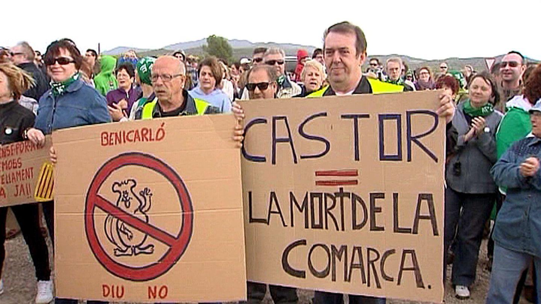Protestas en contra del proyecto Castor. (EFE)