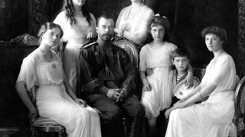 Foto: Los últimos de su dinastía, fotografiados en 1913.