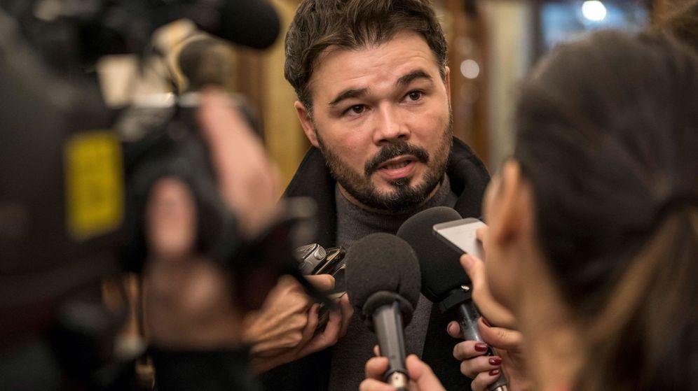 Foto: El portavoz de ERC en el Congreso de los Diputados, Gabriel Rufián. (EFE)