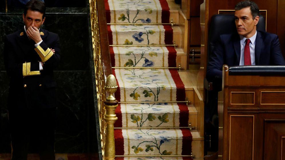 Foto: Pedro Sánchez, durante el debate de investidura en el Congreso. (Reuters)