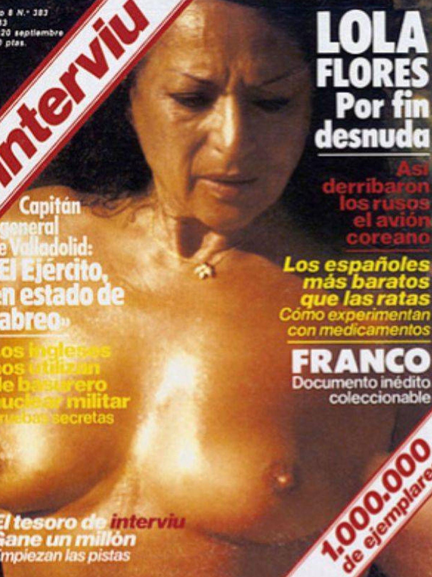 Lola Flores, en el 'Interviú' de septiembre de 1983.