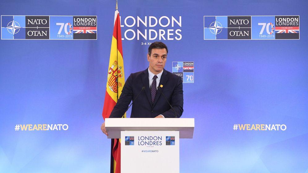 Foto: El presidente del Gobierno en funciones, Pedro Sánchez, en la reunión de la OTAN en Londres. (EFE)
