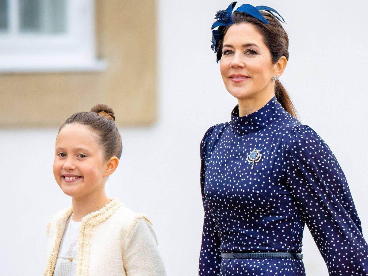 Foto: Mary de Dinamarca, con su hija Josephine. (CP)