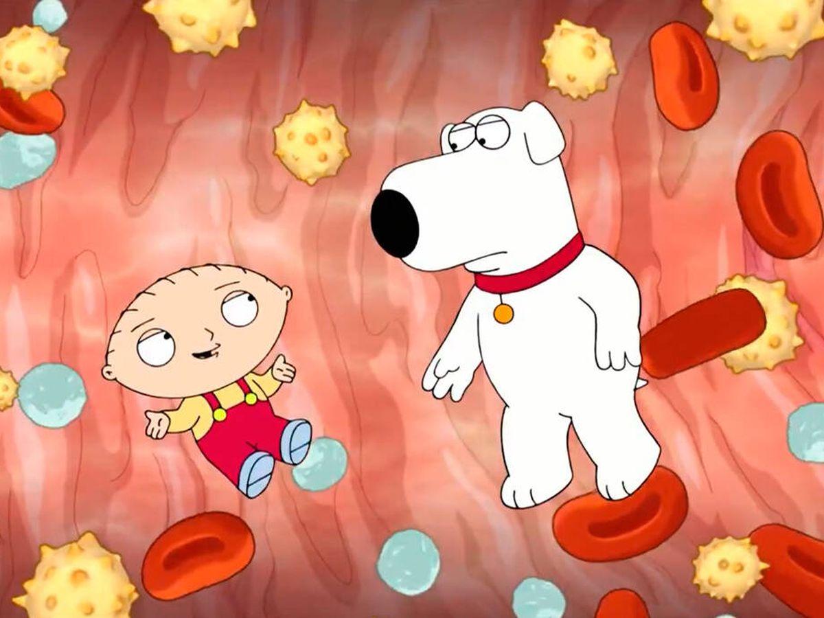 Foto: Stewie y Brian, en el cuerpo de Peter Griffin (Padre de familia)