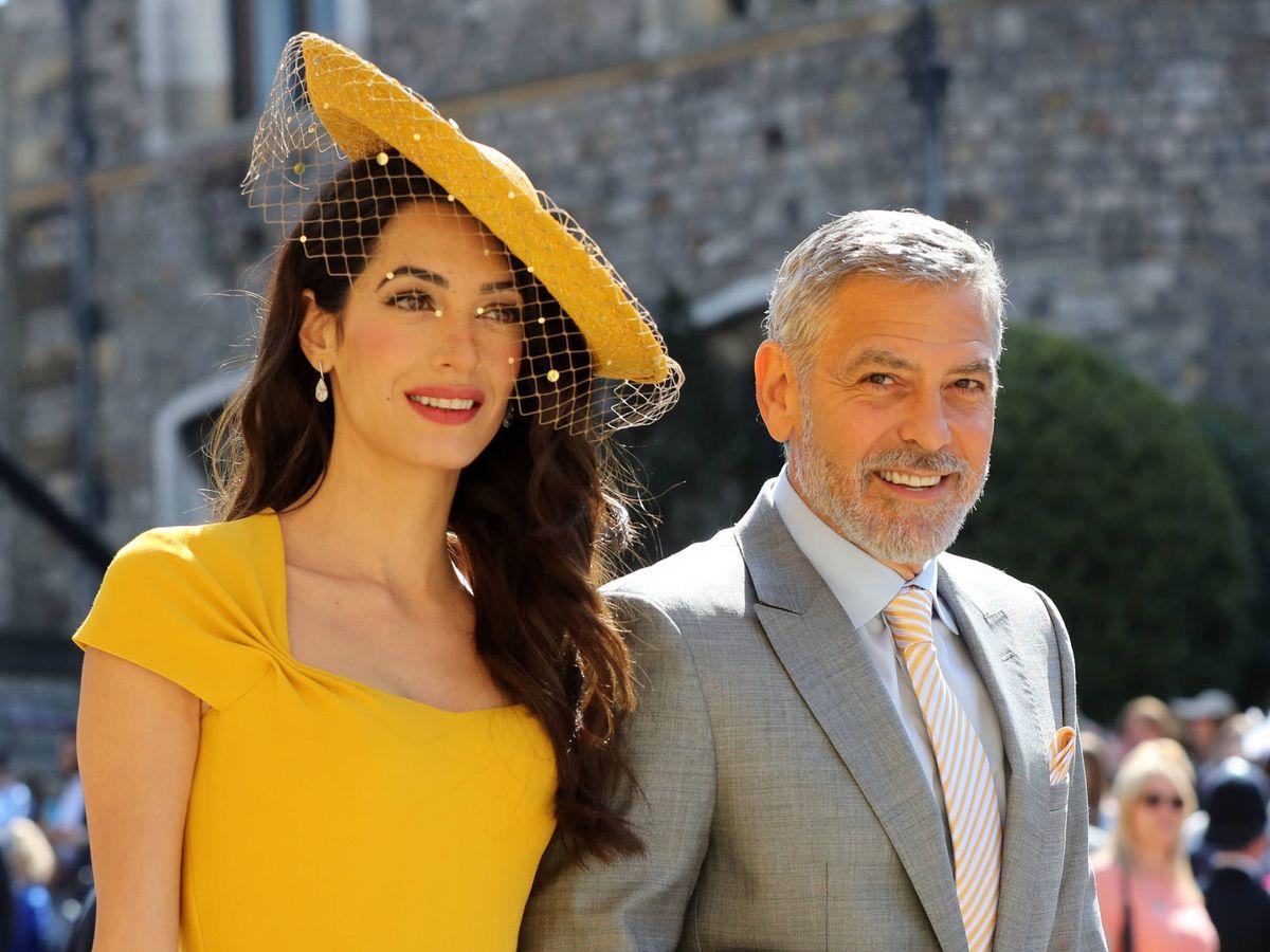 Foto:  Los Clooney, en la boda de Harry y Meghan. (Getty)