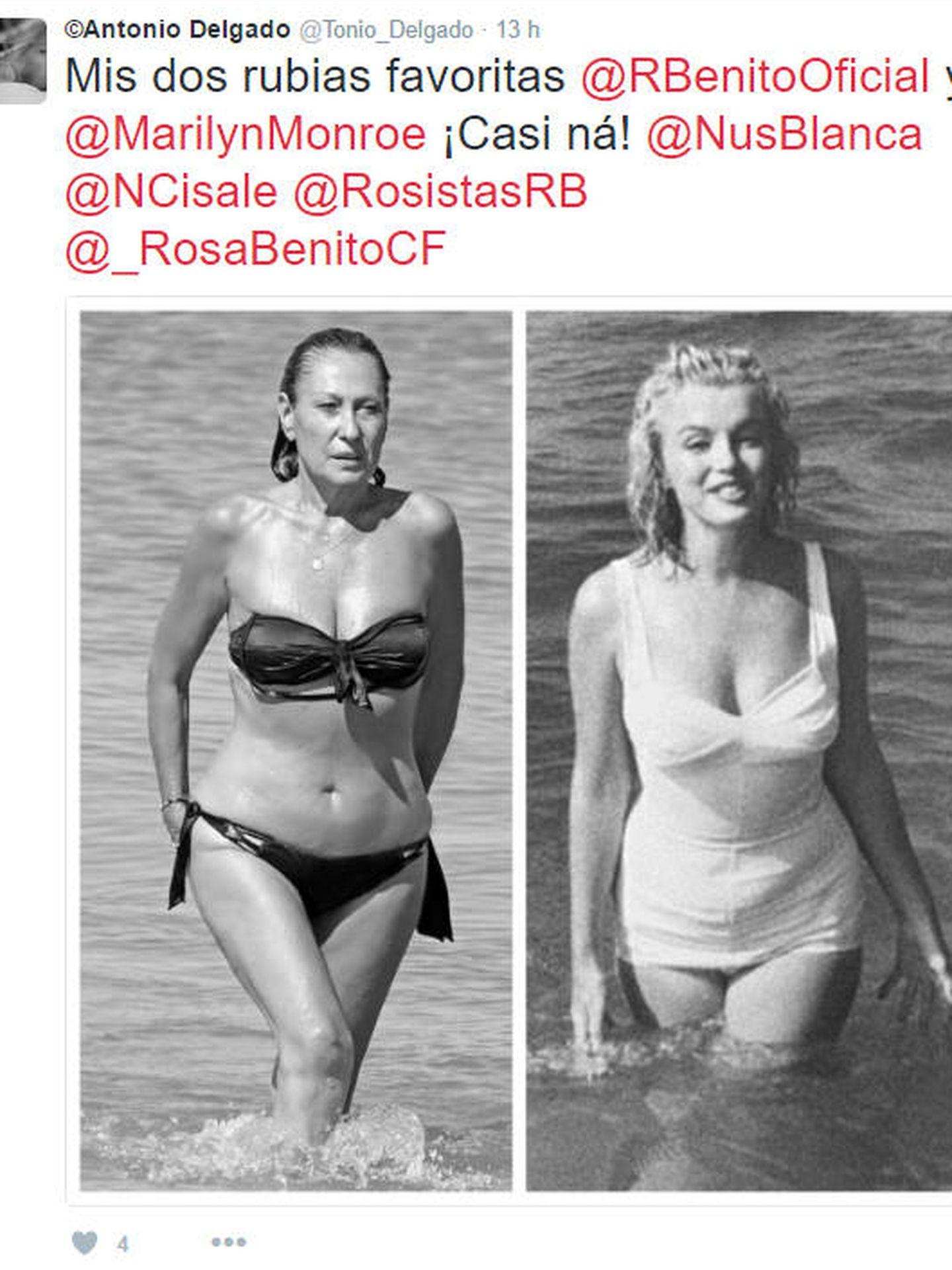 Internet se ha poblado de memes sobre el posado de Rosa Benito en 'Lecturas'