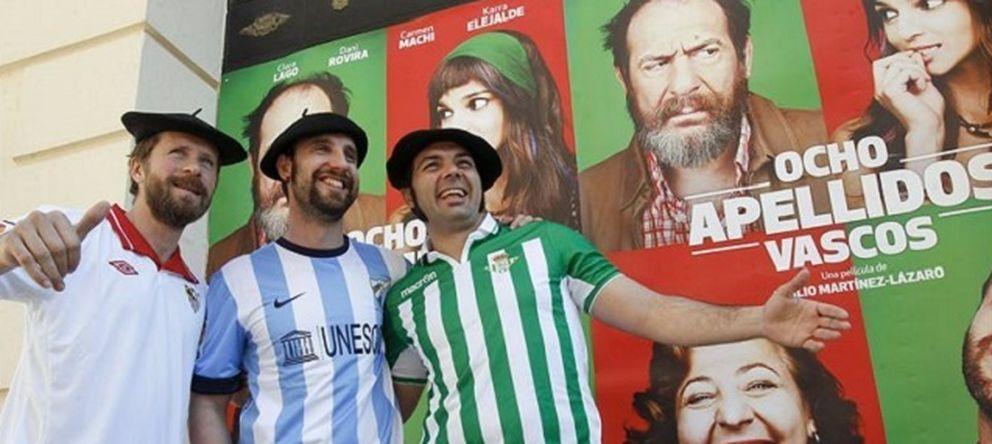 Foto: Dani Rovira y Alfonso Sánchez promocionando 'Ocho apellidos vascos'