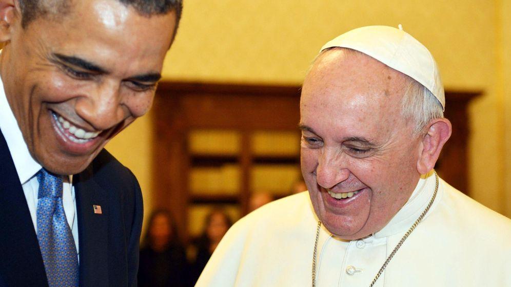 Foto: El presidente estadounidense, Barack Obama, y el Papa Francisco en marzo de 2014. (Efe)