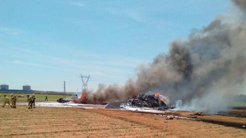 Foto: Accidente del Airbus A400 en Sevilla hace un año. (EFE)