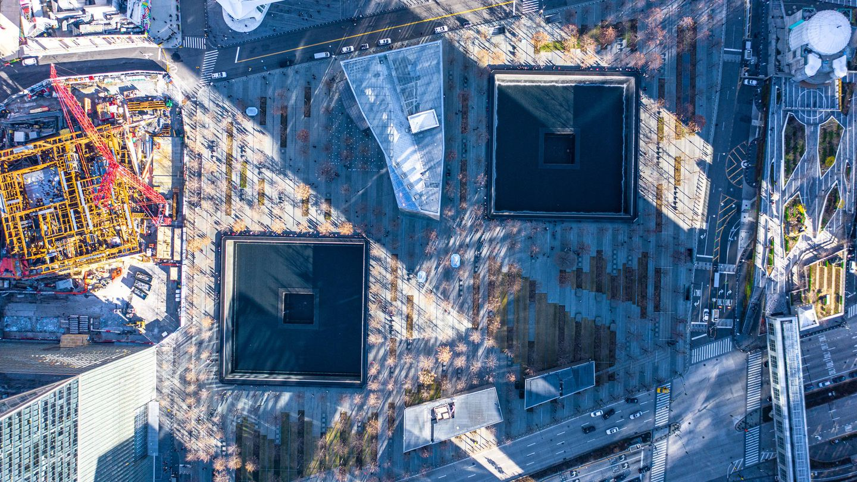 Vista aérea del World Trade Center Memorial. (Fuente: iStock)
