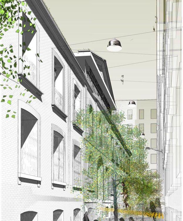 Foto: Proyecto de construcción de la nueva residencia.