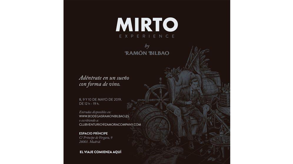 Foto: Cartel promocional de 'Mirto Experience'.
