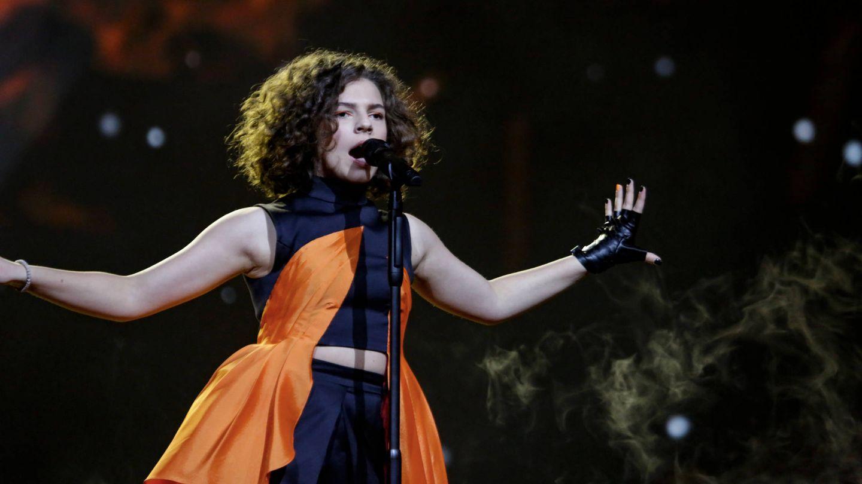 La representante de Macedonia del Norte. (Thomas Hanses/EurovisionJunior.TV)
