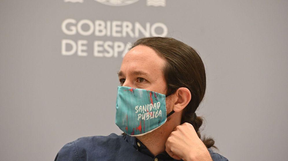 Foto: El vicepresidente del Gobierno, Pablo Iglesias, en un acto. (EFE)