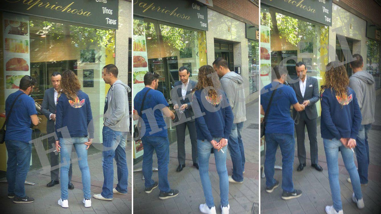 Foto: El momento en que detienen a Aneri. (El Confidencial)