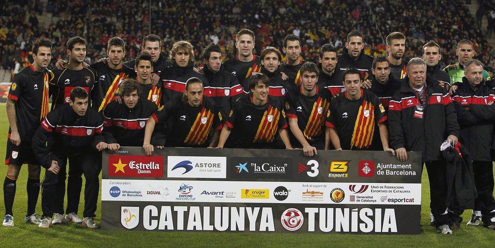 Foto: Imagen de la selección de fútbol de Cataluña en un amistoso disputado en 2011 (EFE)