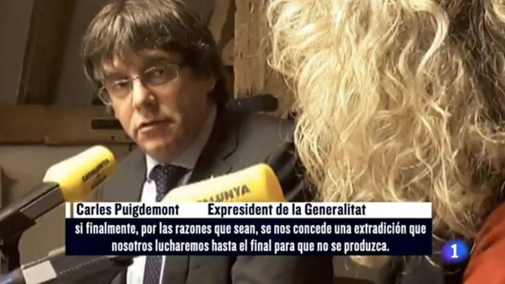 La razón por la que TVE puso la música de 'El exorcista' de fondo a Puigdemont