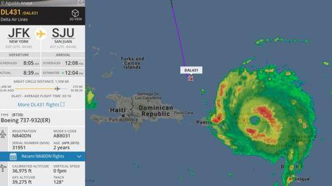 ¿Volar en medio del huracán más grande del Atlántico? Este avión lo ha conseguido
