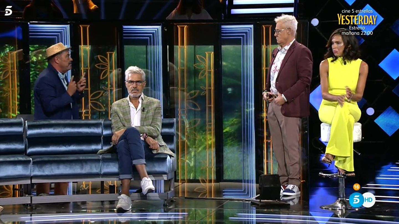 Antonio Canales y Jordi González, en 'Supervivientes'. (Mediaset)