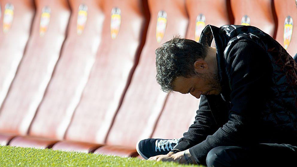 El Luis Enrique más humano: en la sala de prensa murmuró 'Puxa Sporting'