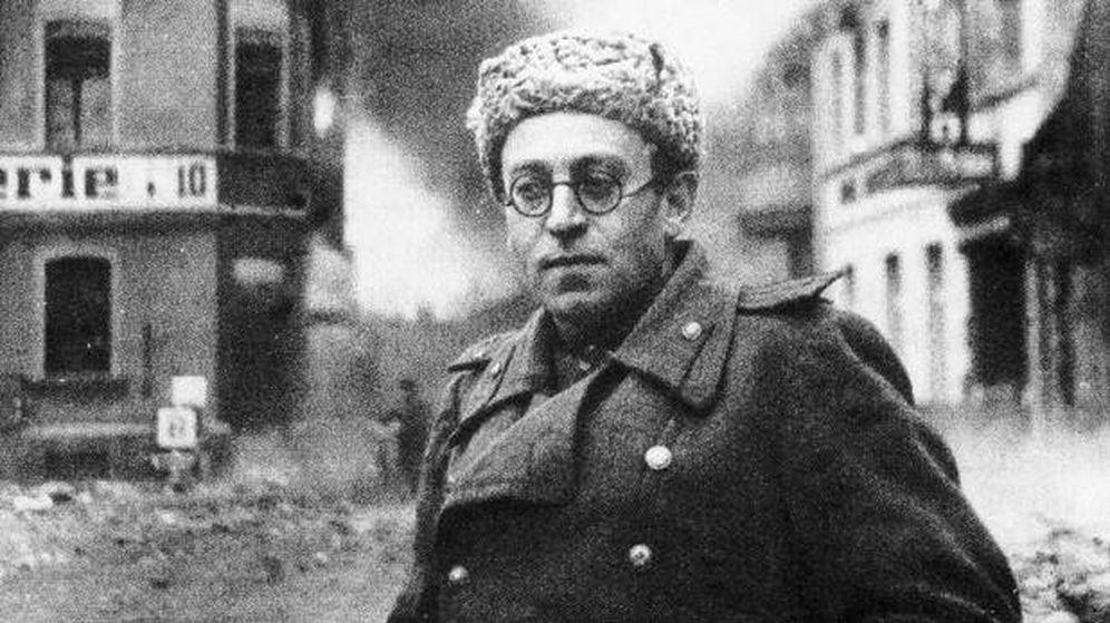Foto: Vasili Grossman, en el frente soviético durante la Segunda Guerra Mundial.