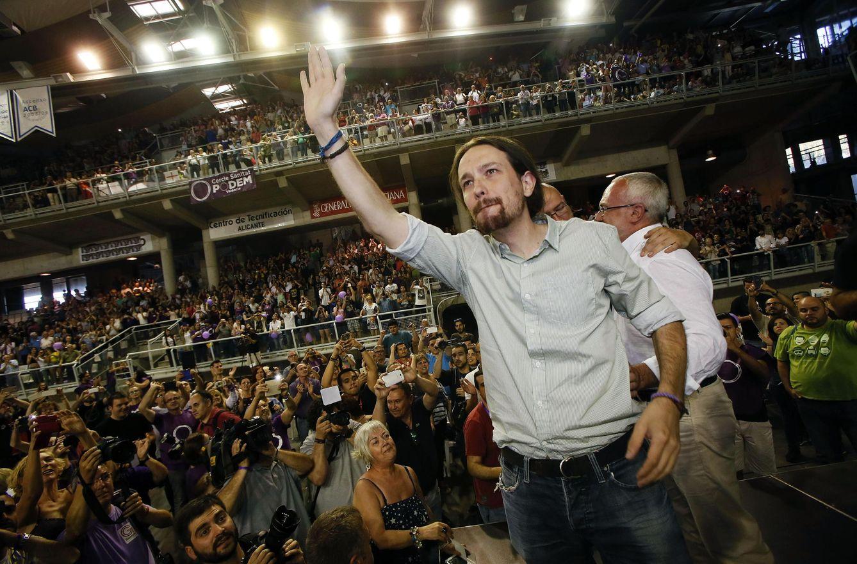 Pablo Iglesias en un mitin. (Efe)