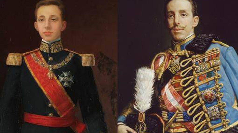 'Alfonso XIII' de Juan Antonio Benlliure y Gil (1902) y 'El rey Alfonso XIII', de Román Navarro García de Vinuesa (1912)