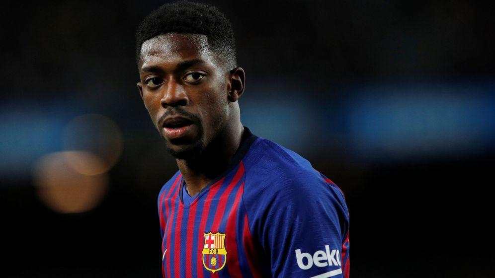 Foto: Ousmane Dembélé, durante un partido con el Barcelona. (EFE)