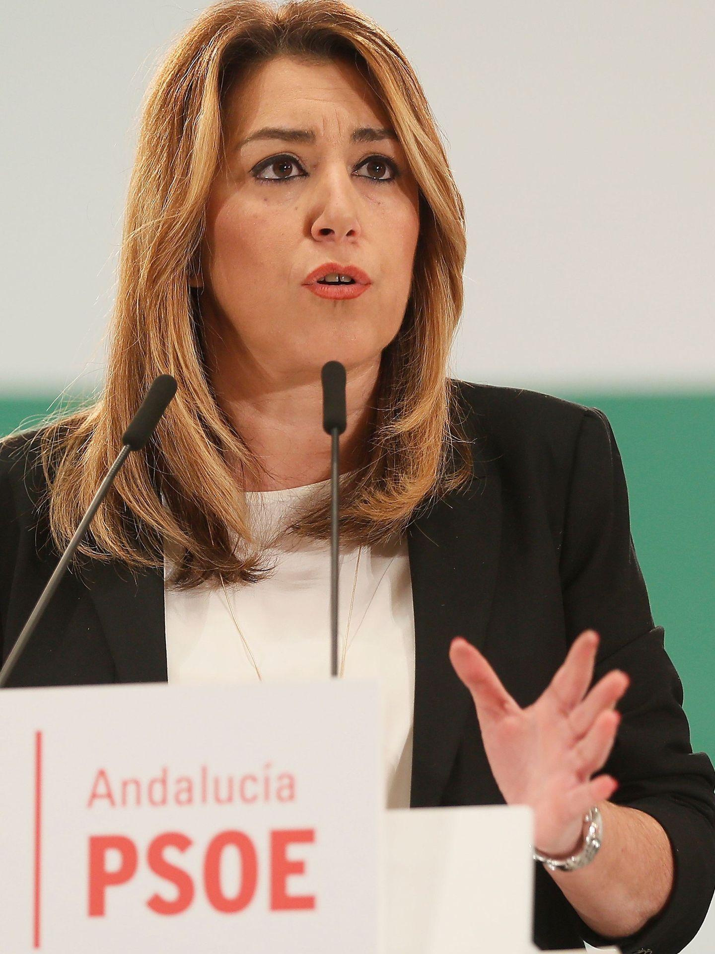 La presidenta de la Junta, Susana Díaz, el pasado 29 de enero, en el comité director del PSOE-A. (EFE)