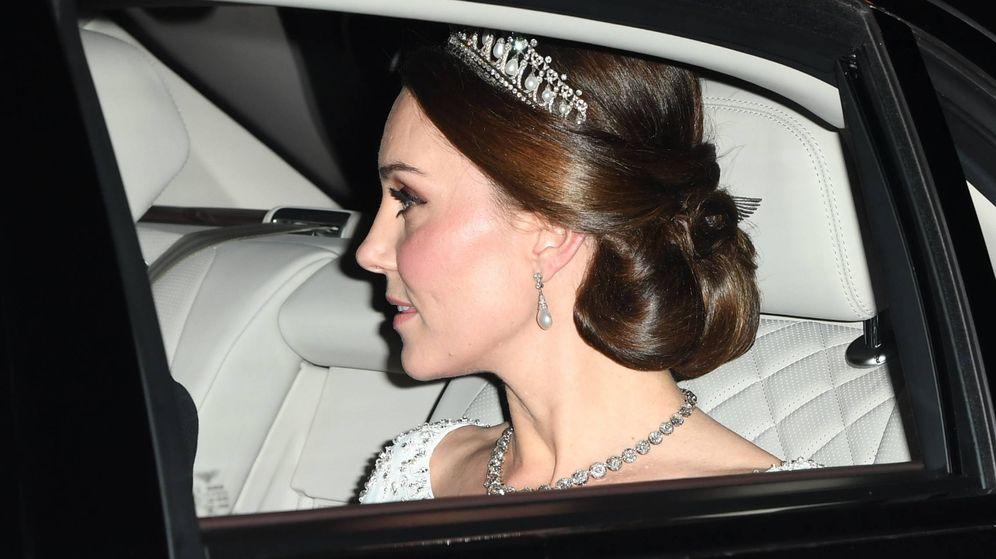 Foto: La duquesa de Cambridge a su llegada a Buckingham. (Gtres)