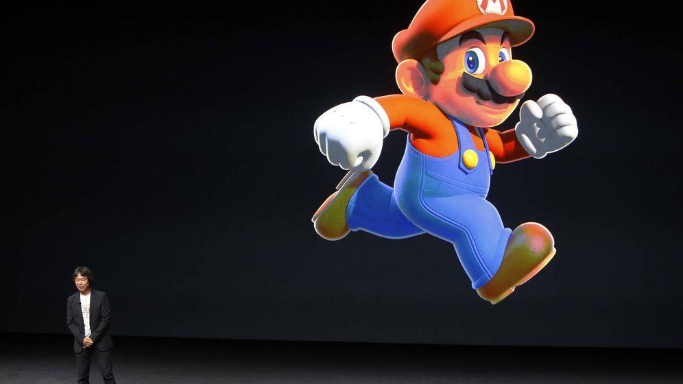 Foto: Shigeru Miyamoto, creador de Super Mario, durante la presentación de Apple. (Foto: Reuters)