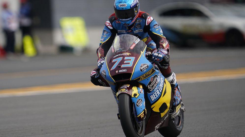 Foto: Álex Márquez, con la Kalex de Moto2 durante el GP de Motegi. (EFE)
