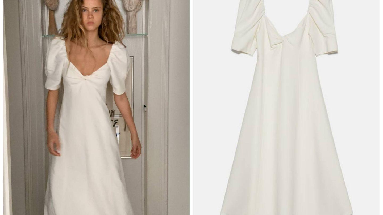 Un vestido de Zara perfecto para tu boda. (Cortesía)