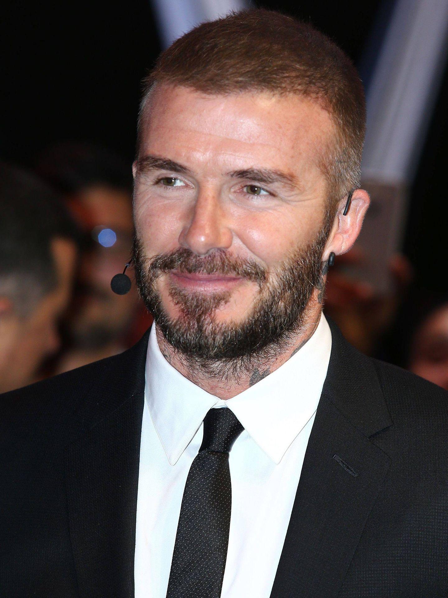 Un primer plano de David Beckham en el salón del motor de París. (CP)