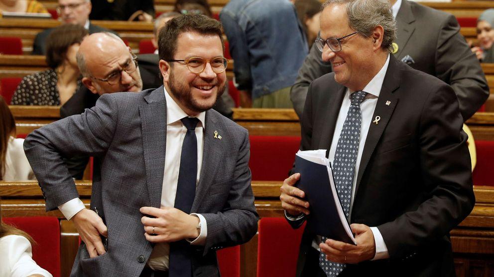 Torra y Aragonès se reunieron para limitar la protesta institucional y evitar un 155