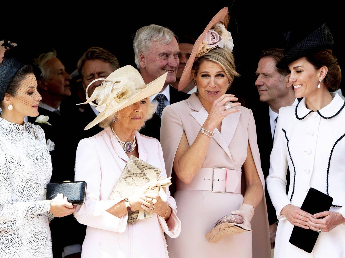 Foto: La reina Letizia, Máxima de Holanda, la duquesa de Cornualles y la duquesa de Cambridge. (Reuters)