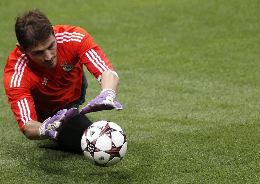 Foto: Casillas en un entrenamiento (Efe).